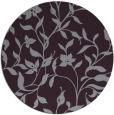 rug #214357 | round purple natural rug