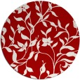 rug #214361 | round red natural rug