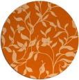 rug #214381   round red-orange natural rug