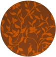 rug #214385   round red-orange rug