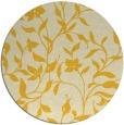 rug #214409   round yellow natural rug