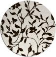 rug #214417 | round brown rug