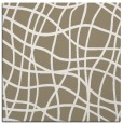 rug #218485 | square mid-brown check rug