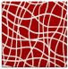 rug #218585 | square red stripes rug