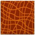 rug #218601 | square red-orange check rug