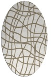 rug #218697 | oval white check rug