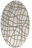 rug #218697 | oval beige check rug