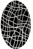 rug #218701 | oval white stripes rug