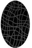 rug #218705 | oval black stripes rug