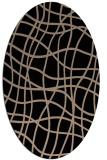 rug #218709 | oval beige check rug