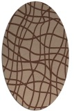 rug #218715   oval check rug