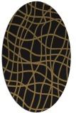 rug #218717   oval brown check rug