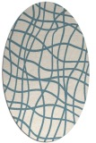 rug #218721 | oval white check rug
