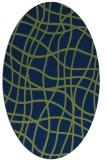 rug #218733 | oval blue check rug