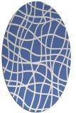 rug #218737 | oval blue check rug