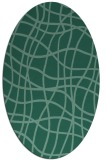 rug #218753 | oval blue-green rug
