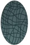 rug #218769 | oval check rug