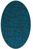 rug #218777 | oval blue check rug