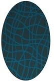 rug #218778 | oval check rug