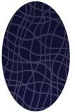 rug #218781 | oval blue-violet check rug