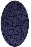 rug #218782 | oval check rug