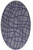 rug #218785 | oval blue-violet check rug
