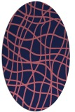 rug #218789 | oval blue-violet stripes rug