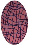 rug #218790 | oval check rug