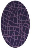 rug #218793 | oval purple check rug
