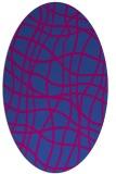 rug #218799 | oval check rug