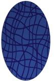 rug #218801 | oval blue-violet check rug