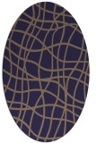 rug #218805 | oval blue-violet check rug