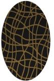 rug #218813 | oval black stripes rug