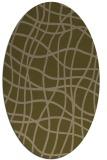 rug #218817   oval brown check rug