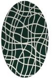 rug #218831 | oval check rug