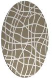 rug #218837 | oval white check rug