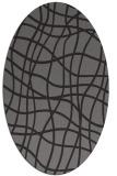 rug #218848 | oval check rug