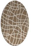 rug #218849 | oval beige check rug
