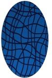 rug #218865 | oval blue check rug