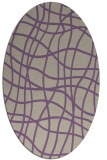 rug #218877 | oval purple check rug