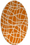 rug #218889 | oval orange check rug