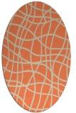 rug #218893 | oval orange check rug