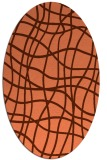 rug #218897 | oval red-orange check rug