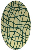 rug #218901 | oval yellow check rug