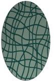 rug #218903   oval check rug