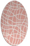 rug #218917 | oval white check rug