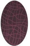 rug #218921 | oval purple check rug