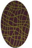 rug #218925 | oval purple check rug
