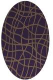 rug #218929 | oval purple check rug