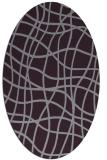 rug #218933 | oval purple check rug